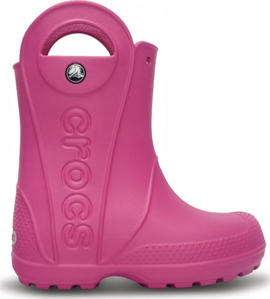 Crocs Handle It Rain Boot Kids - Fuchsia, J2 (33-34)