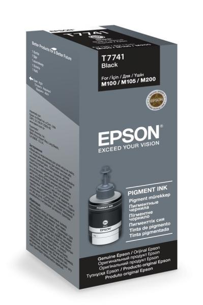 Černá inkoustová náplň Epson (T7741) pro Epson M100/105/200 - Originální C13T77414A