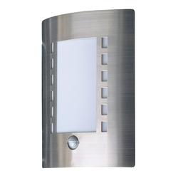 Venkovní nástěnné svítidlo s vestavěným pohybovým čidlem, E27/IP44.