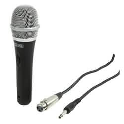 Směrový dynamický mikrofon König kovový černý