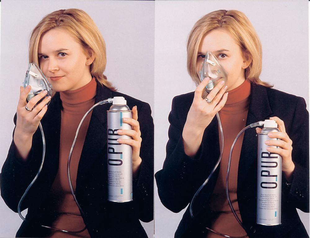 Kyslíková láhev s kyslíkovou maskou O-PUR