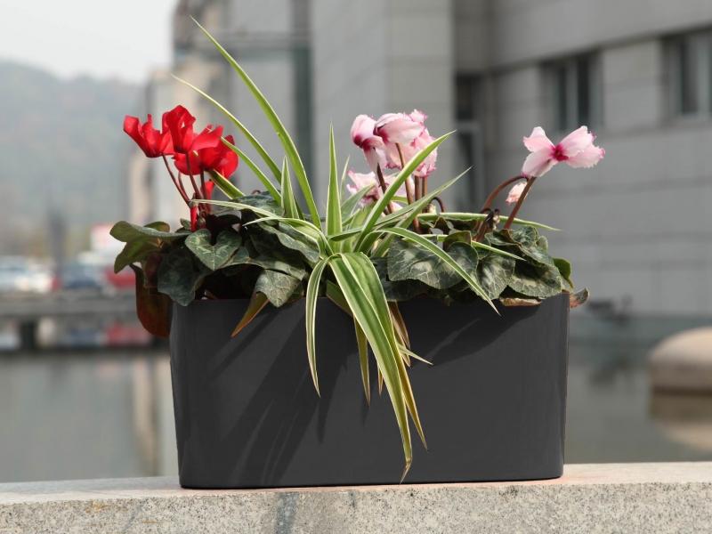 Květináč G21 Combi 56x28 cm - Černý