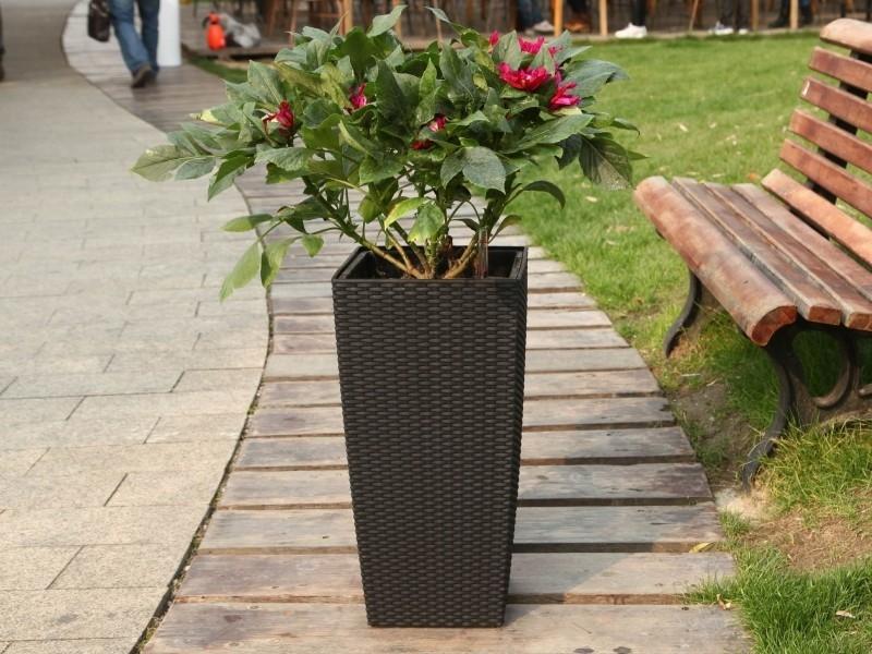 Květináč G21 Linea Ratan Big 39 cm - Hnědý