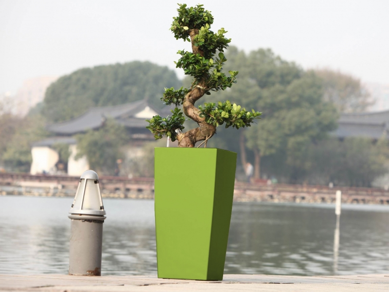 Květináč G21 Linea 39 cm - Zelený