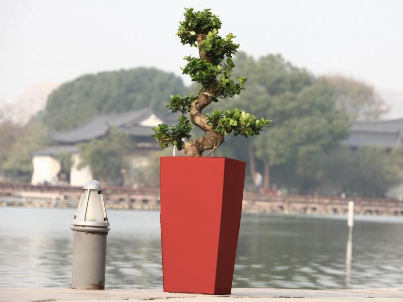 Květináč G21 Linea 39 cm - Červený