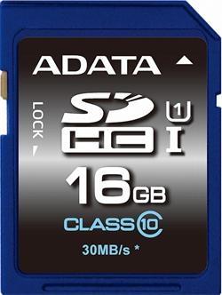 ADATA 16GB Secure Digital (SDHC) class 10/UHS-I Premier ASDH16GUICL10-R