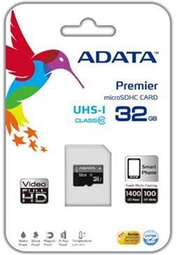 ADATA 32GB Micro SD SDHC class 10/UHS-I Premier AUSDH32GUICL10-R