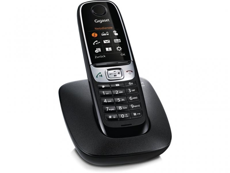 SIEMENS Gigaset C620 - DECT/GAP bezdrátový telefon, černý