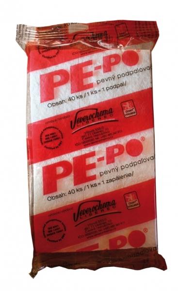PE-PO podpalovač pevný - 40 podpalů (fólie)