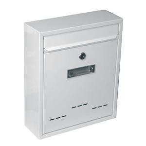 Schránka poštovní G21 RADIM malá 310x260x90mm bílá GA-T20b, TX0020W,040016