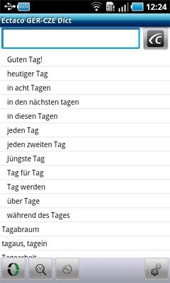 Česko-německá sada slovníků ECTACO pro Android OS