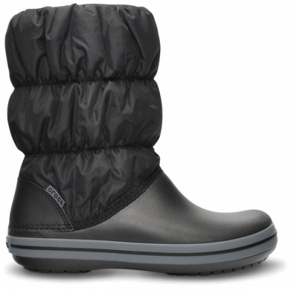 Crocs Winter Puff Boot Women - Black/Charcoal, W8 (38-39)