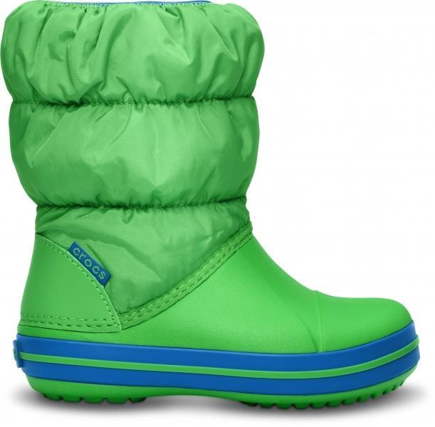 Crocs Winter Puff Boot Kids - Lime/Sea Blue, C7 (23-24)