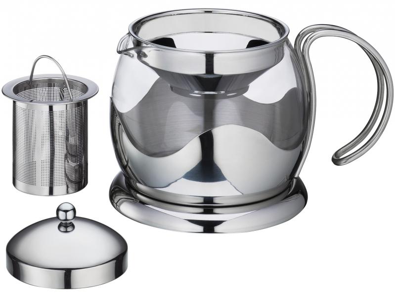 Küchenprofi čajová konvice s filtrem, sklo/nerez, 1250 ml