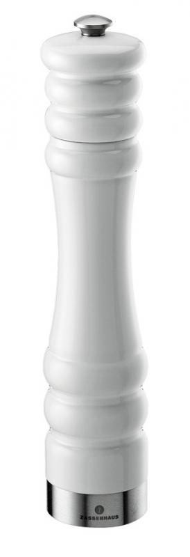 Zassenhaus dřevěný mlýnek na pepř MÜNCHEN, 25cm, - bílý
