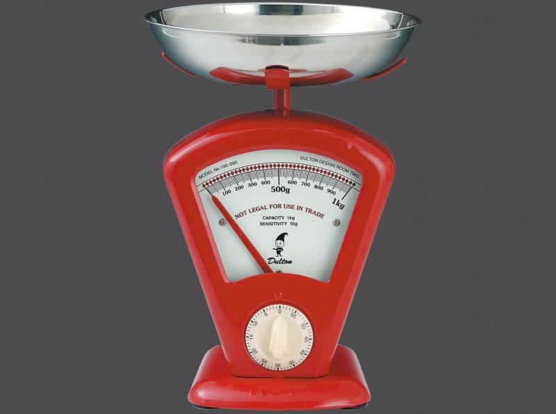 Zassenhaus kuchyňská Retro váha DELTA, - červená