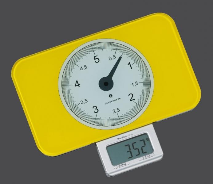 Zassenhaus kuchyňská digitální váha SCALE, - žlutá