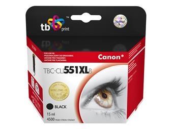 Černá inkoustová kazeta TB kompatibilní s Canon CLI-551XL BK - Alternativní TBC-CLI551XLB