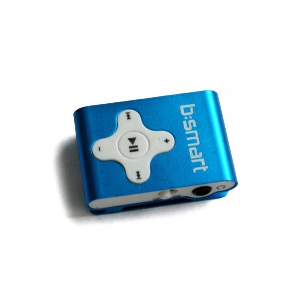 Mini MP3 přehrávač Bsmart se slotem pro paměťové karty, modrý CN-MP301BL