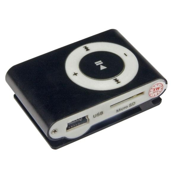 Mini MP3 přehrávač Bsmart se slotem pro paměťové karty, černý CN-MP301K