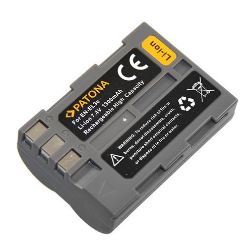 Baterie pro Nikon EN-EL3E, 1300 mAh Li-Ion PT1036