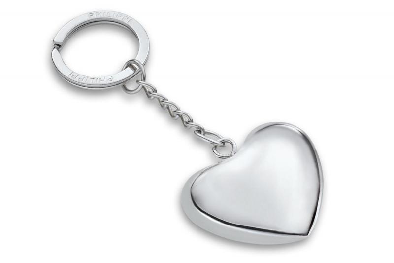 Philippi zvonící přívěsek na klíče ve tvaru srdce Klangherz