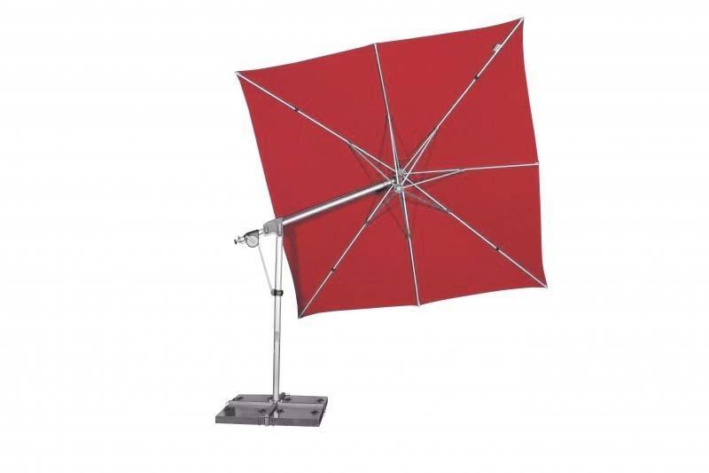 Zahradní slunečník Doppler PROTECT 3x3P 300x300 - Červená