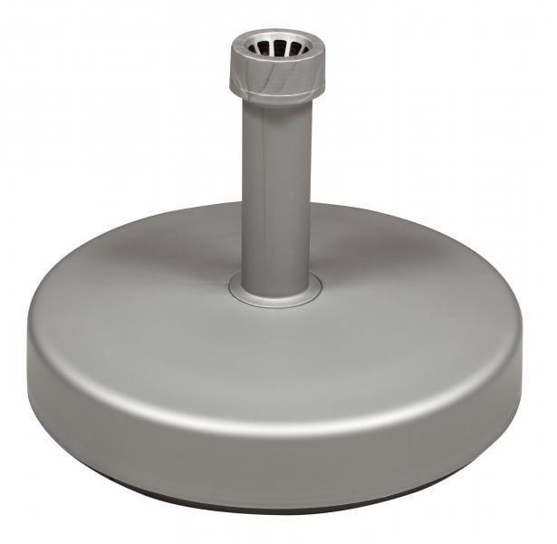 Plastový stojan pro zahradní slunečníky, 25 litrů Stříbrná