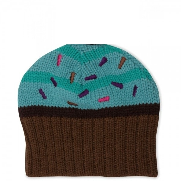 Crocs Girls Cupcake Knit Hat Mint/Chocolate
