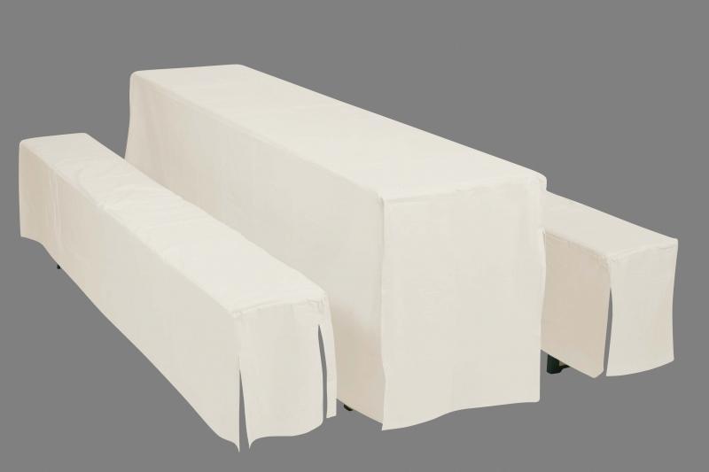 Potahy Doppler Hussen pro pivní soupravy, šířka stolu 50cm - Bílý