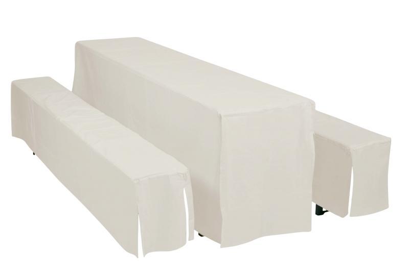 Potahy Doppler Hussen pro pivní soupravy, šířka stolu 70cm - Bílý