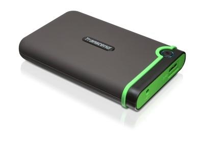 """TRANSCEND 1TB StoreJet 25M3, USB 3.0, 2.5"""" Externí Anti-Shock disk, šedo/zelený TS1TSJ25M3"""