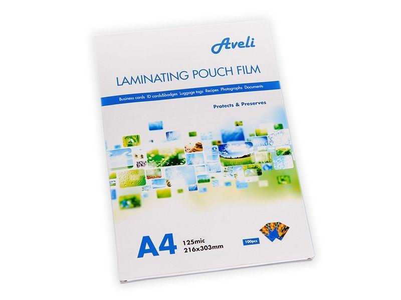 Laminovací fólie AVELI, A4, 125 mic, 100 ks, lesklé