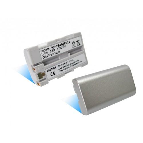 Baterie T6 power NP-FS10, NP-FS12, NP-FS11, stříbrná 1500 mAh - neoriginální