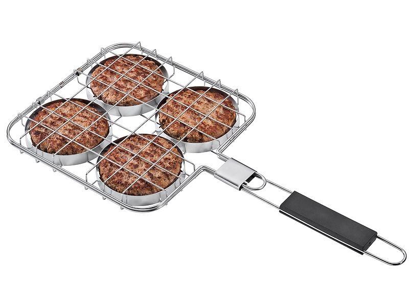 Küchenprofi grilovací košík na 4 hamburgery