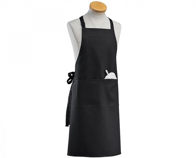 Küchenprofi kuchyňská zástěra, černá