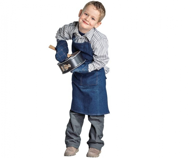 Küchenprofi dětská kuchyňská zástěra s rukavicemi