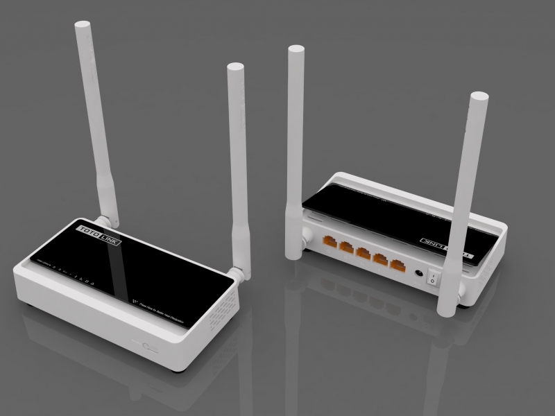 WiFi router Totolink N200RE AP/router/repeater/client, 4x LAN, 1x WAN (2,4GHz, 802.11n) 300Mbps, 2 SSID N200RE