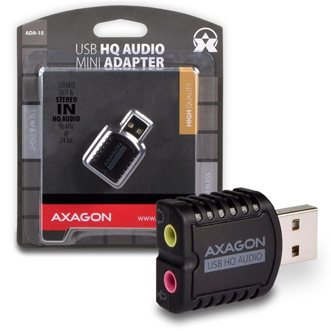 AXAGON USB2.0 - stereo HQ audio MINI adapter 96kHz ADA-15