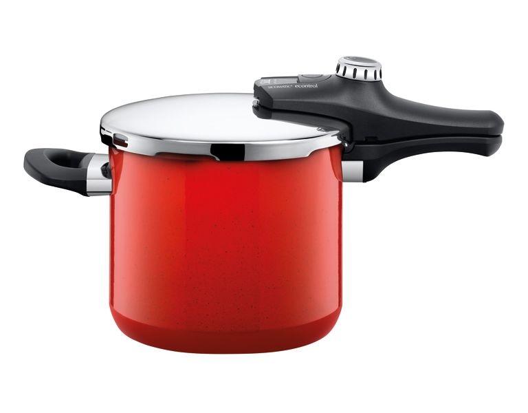 Silit tlakový hrnec Sicomatic econtrol Energy, - červený, 6.5 l (6.5 litru)