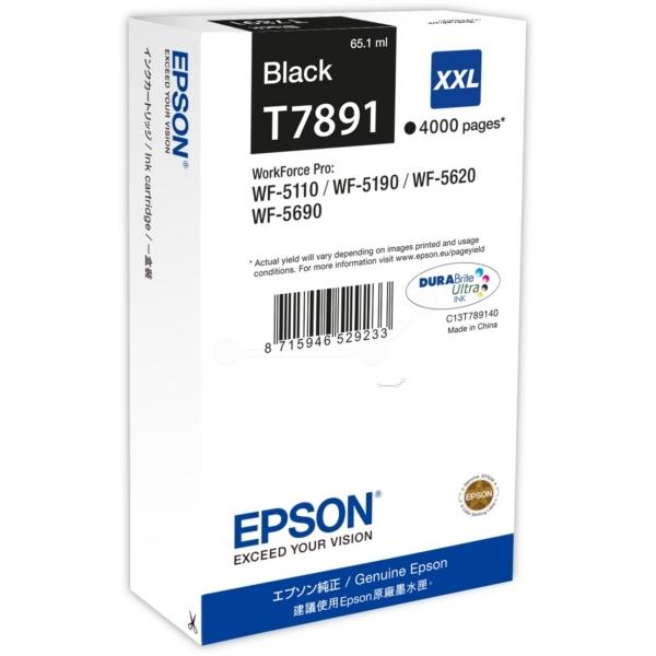 Černá inkoustová kazeta Epson T7891 XXL pro WorkForce Pro WP-5110 - Originální C13T789140