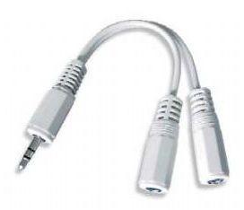 Rozdvojka na sluchátka jack 3,5na2x3,5mm M/F,10cm, audio CCA-415W