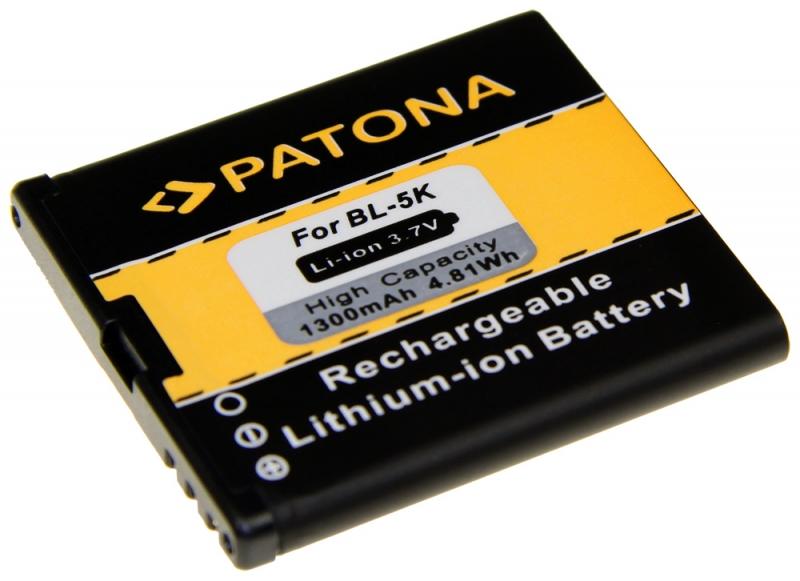 Baterie Patona kompatibilní s Nokia BL-5K, 1300mAh, Li-Ion - neoriginální PT3041