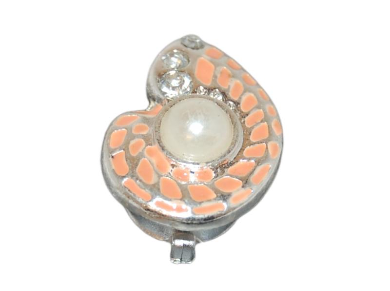 Crocs ozdoba Jibbitz Pearl Shell, připevnění na gumičku