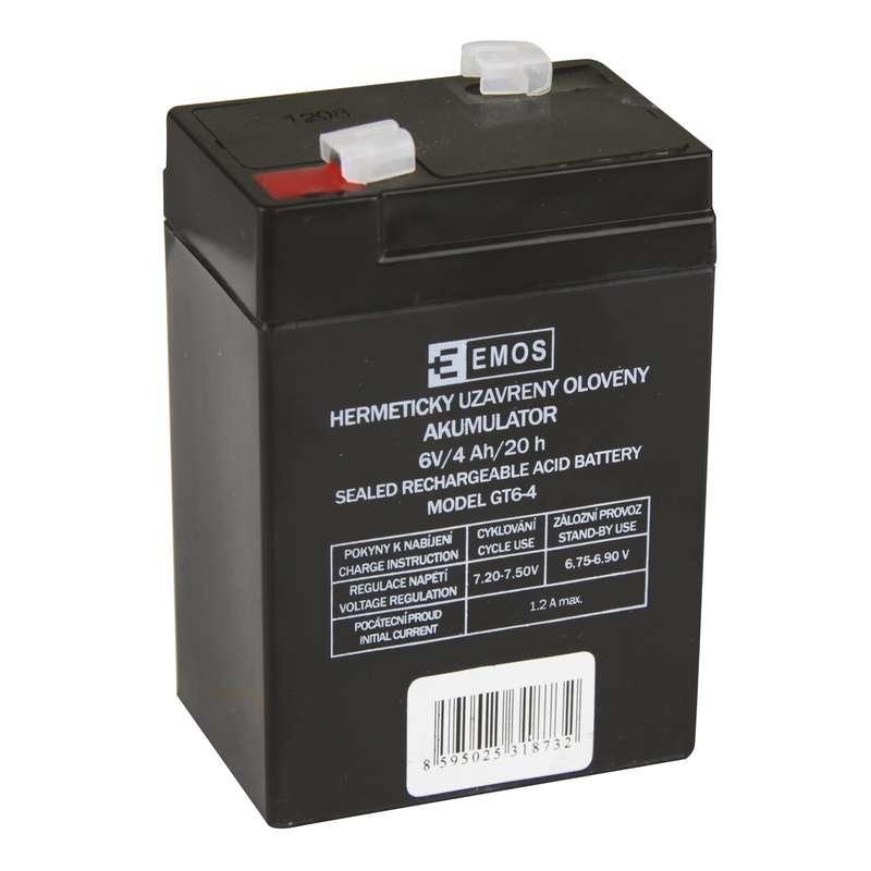 Bezúdržbový olověný akumulátor EMOS 6V 4Ah pro svítilny 3810 B9641