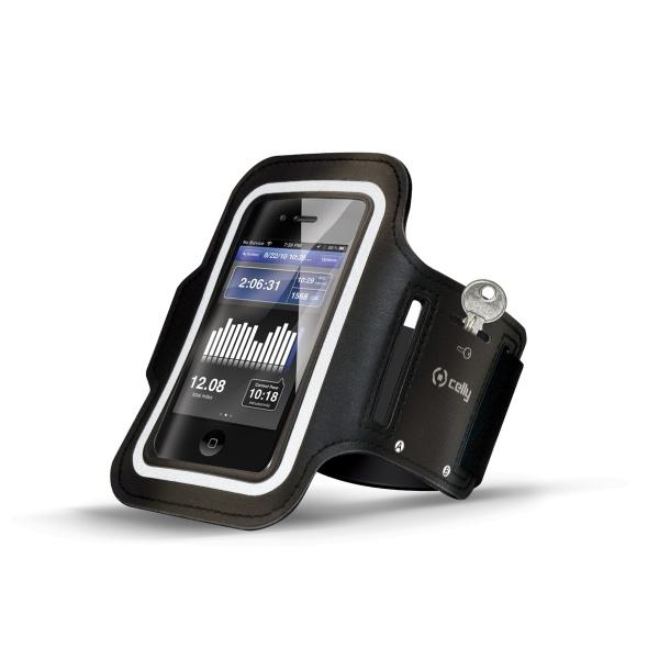 Sportovní pouzdro Celly, Samsung Galaxy S4, velikost XXL, černé ARMBAND01