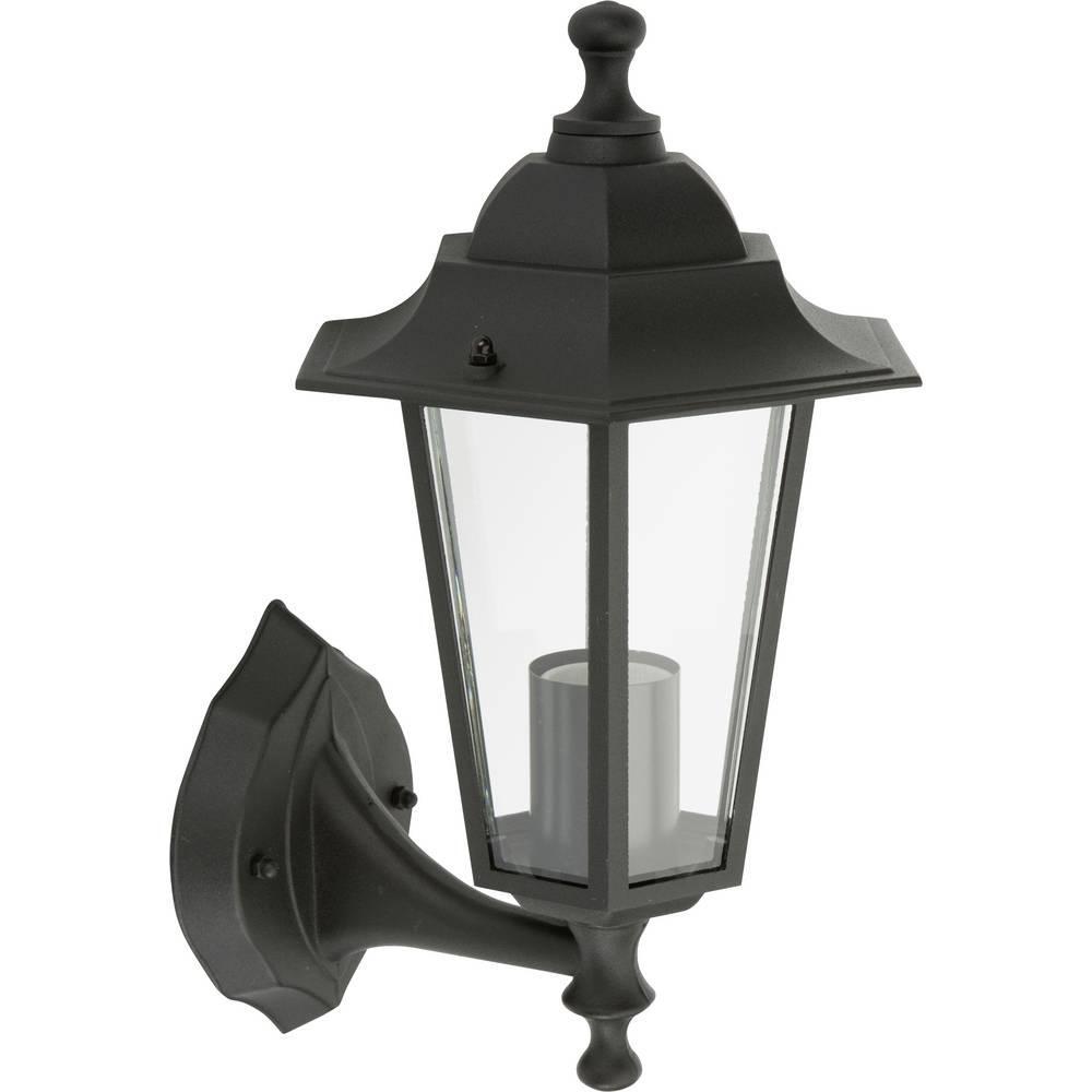 Černé nástěnné hliníkové svítidlo