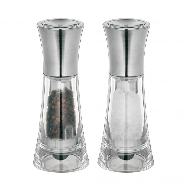 Küchenprofi set mlýnků na sůl a pepř NEW YORK, akryl/ chrom