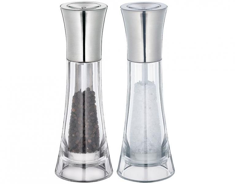 Küchenprofi midi set mlýnků na pepř a sůl Manhattan, akryl/ nerez