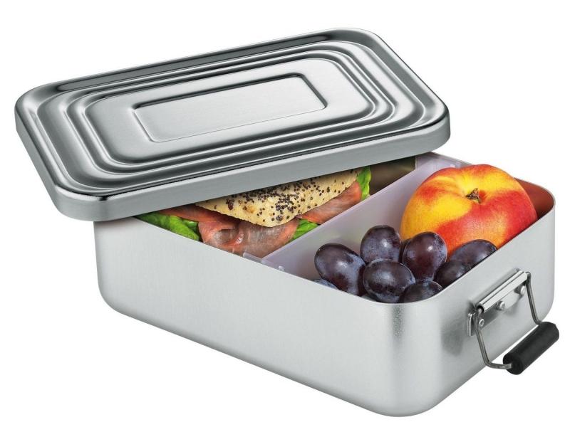 Küchenprofi hliníkový svačinový / obědový box 7 x 15 x 23 cm, - stříbrný